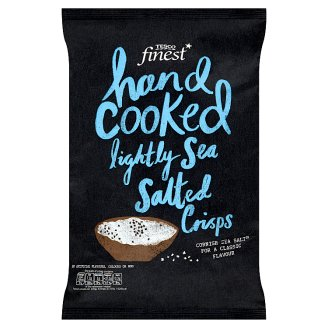 Tesco Finest Hand Cooked Lightly Sea Salted Crisps 150 g