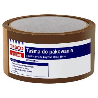 Tesco Value Taśma pakowa 40 m x 48 mm brązowa
