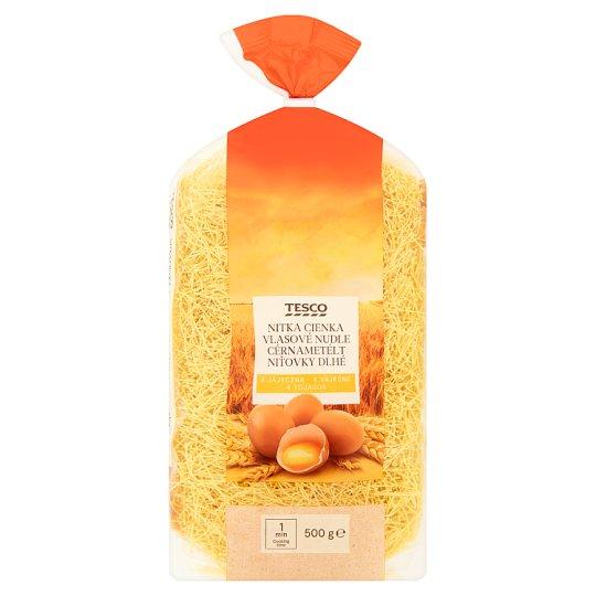 Tesco Makaron 4 jajeczny nitka cienka 500 g