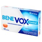 Benevox Control Pastylki twarde smak pomarańczowo-miodowy 12 pastylek