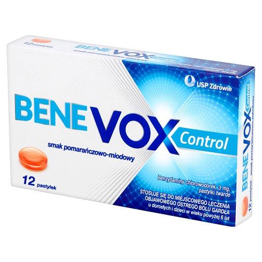 Benevox Control Orange-Honey Flavour Lozenges 12 Pieces