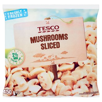 Tesco Mushrooms Sliced 450 g