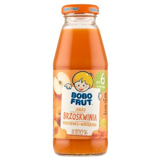 Bobo Frut Apple Peach Carrot and Grape after 6 Months Onwards 100% Juice 300 ml
