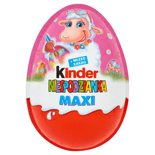 Kinder Niespodzianka Maxi Egg Covered with Milk Chocolate 100 g