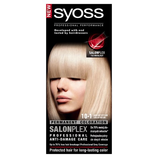 Syoss SalonPlex Hair Colorant Extra Light Pure Blond 10-1