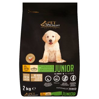 Tesco Pet Specialist Premium Rich in Fresh Chicken and Rice Food for Junior Dogs 2 kg