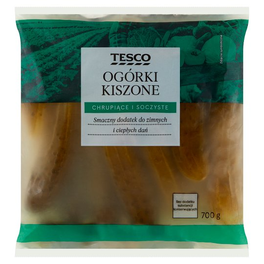 Tesco Ogórki kiszone 700 g