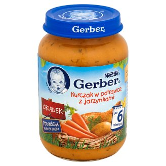 Gerber Obiadek Chicken Fricassee with Vegetables after 6 Months Onwards 190 g