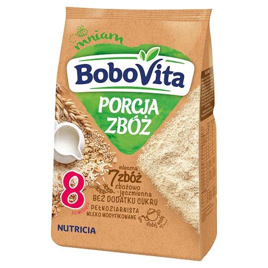 BoboVita Porcja Zbóż 7 Grains Grain-Barley Milk Porridge after 8 Months Onwards 210 g