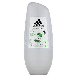 Adidas 6 in 1 Dezodorant antyperspiracyjny w kulce dla mężczyzn 50 ml