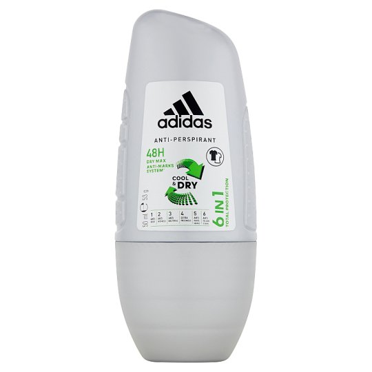 Adidas 6 in 1 Anti-Perspirant Roll-On for Men 50 ml