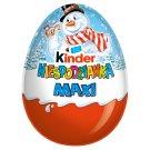 Kinder Niespodzianka Maxi Słodkie jajko z niespodzianką pokryte czekoladą mleczną 100 g