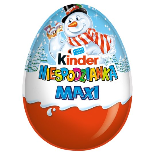 Kinder Surprise Maxi Sweet Egg Covered with Milk Chocolate 100 g