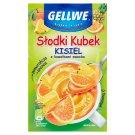 Gellwe Słodki Kubek Kisiel z kawałkami owoców pomarańcza ananas 30 g