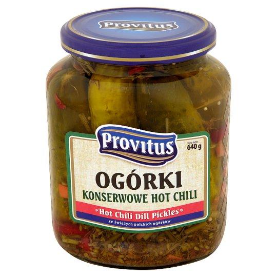Provitus Hot Chili Dill Pickles 640 g