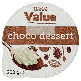 Tesco Value Deser o smaku czekoladowym z bitą śmietanką 200 g