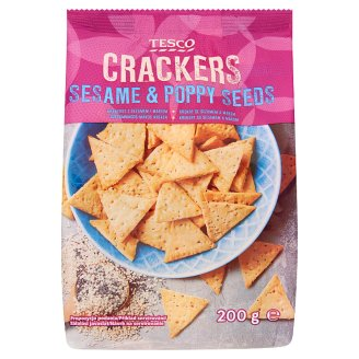 Tesco Sesame & Poppy Seeds Crackers 200 g