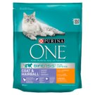 PURINA ONE Coat & Hairball Complete Food for Adult Cats with Chicken and Whole Grains 800 g