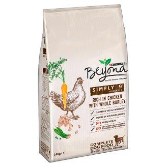 Purina Beyond Simply 9 Pełnoporcjowa karma dla dorosłych psów bogata w kurczaka z jęczmieniem 1,4 kg