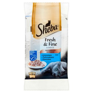 Sheba Fresh & Fine in Sauce Complete Pet Food 300 g (6 Pieces)
