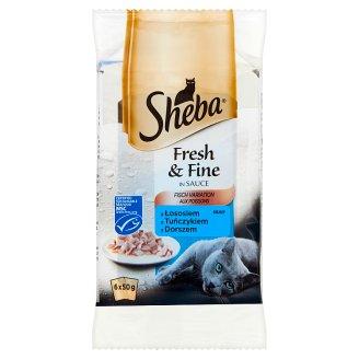 Sheba Fresh & Fine in Sauce Karma pełnoporcjowa 300 g (6 sztuk)