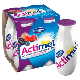 Danone Actimel Forest Fruits with Strawberries Fermented Milk 400 g (4 Pieces)