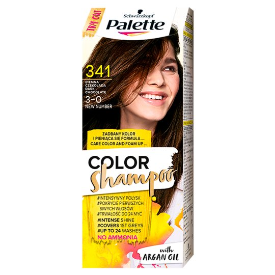 Palette Color Shampoo Coloring Shampoo Dark Chocolate 341