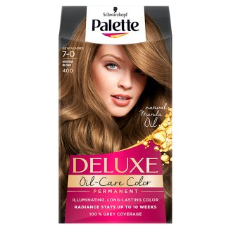 Palette Deluxe Oil-Care Color Hair Colorant Medium Blond 400