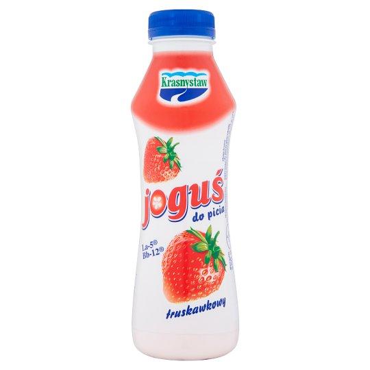 Krasnystaw Joguś Jogurt do picia truskawkowy 350 g