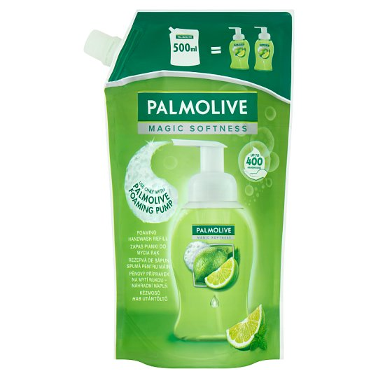 Palmolive Magic Softness Zapas do mydła w piance do rąk o zapachu limonki oraz mięty 500 ml