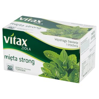 Vitax Zioła Strong Mint Herbal Tea 30 g (20 Tea Bags)