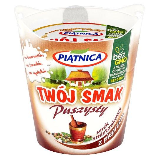 Piątnica Twój Smak Puszysty Serek śmietankowy z pieprzem 150 g