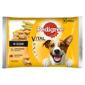 Pedigree Vital Protection Complete Dog Food in Sauce 400 g (4 x 100 g)