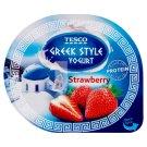 Tesco Jogurt naturalny typu greckiego z wsadem truskawkowym 140 g