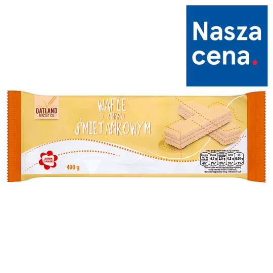 Oatland Biscuit Co. Cream Flavoured Wafers 400 g