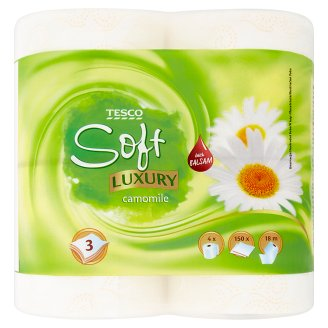 Tesco Soft Luxury Camomile Papier toaletowy 4 rolki