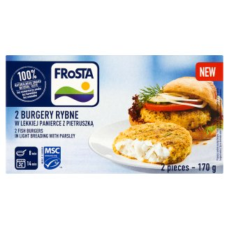 FRoSTA Fish Burgers in Light Breading with Parsley 170 g (2 Pieces)