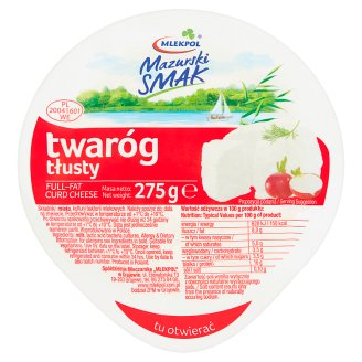 Mlekpol Mazurski Smak Full-Fat Curd Cheese 275 g