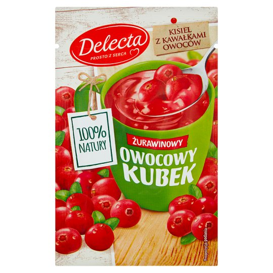 Delecta Owocowy kubek Cranberry Flavoured Soft Jelly 30 g