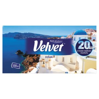 Velvet Relax 2 Ply Tissues 130 Pieces