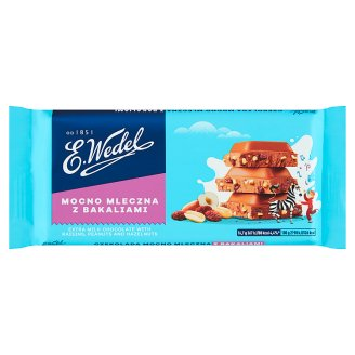 E. Wedel Milk Chocolate with Raisins Peanuts and Hazelnuts 100 g
