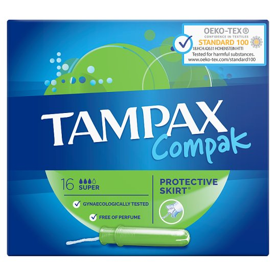 Tampax Compak Super Tampony zaplikatorem, 16 sztuk