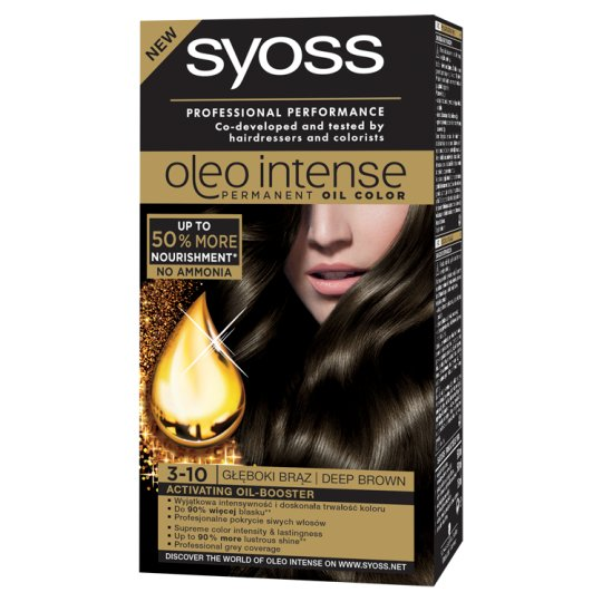 Syoss Oleo Intense Hair Colorant Deep Brown 3-10
