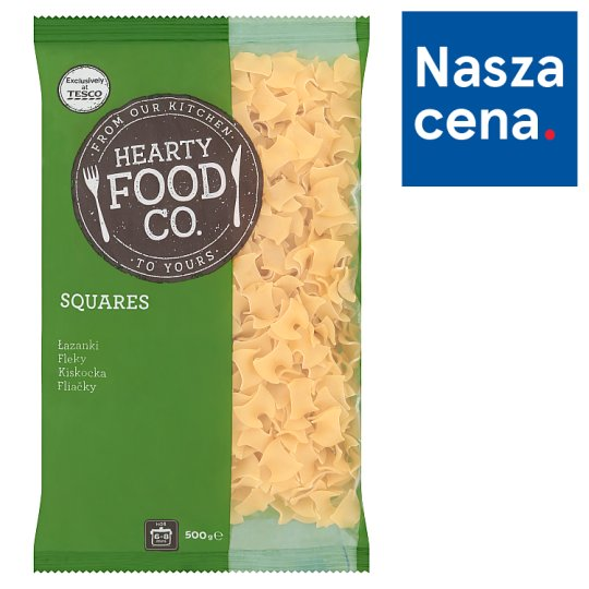 Hearty Food Co. Makaron bezjajeczny łazanki 500 g