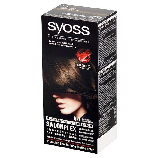 Syoss SalonPlex Farba do włosów Średni brąz 4-1
