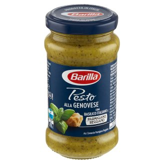 barilla pesto alla genovese pesto sauce with basil 190 g. Black Bedroom Furniture Sets. Home Design Ideas