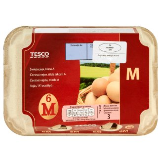 Tesco Fresh Eggs M 6 Pieces