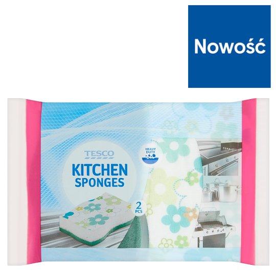 Tesco Kitchen Sponges 2 Pieces