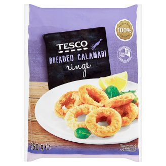 Tesco Breaded Calamari Rings 250 g