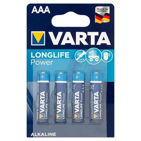 Varta Longlife Power AAA LR03 1.5 V Alkaline Battery 4 Pieces